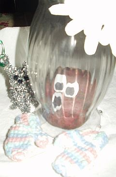 Mr. Potato Head trapped in Snow Globe by Tinsel Cat